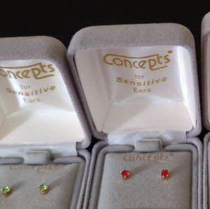 Concepts birth stud earrings nickle free - choice